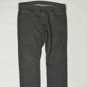 Levis Regular  Gray 42x32 501 Cotton Solid